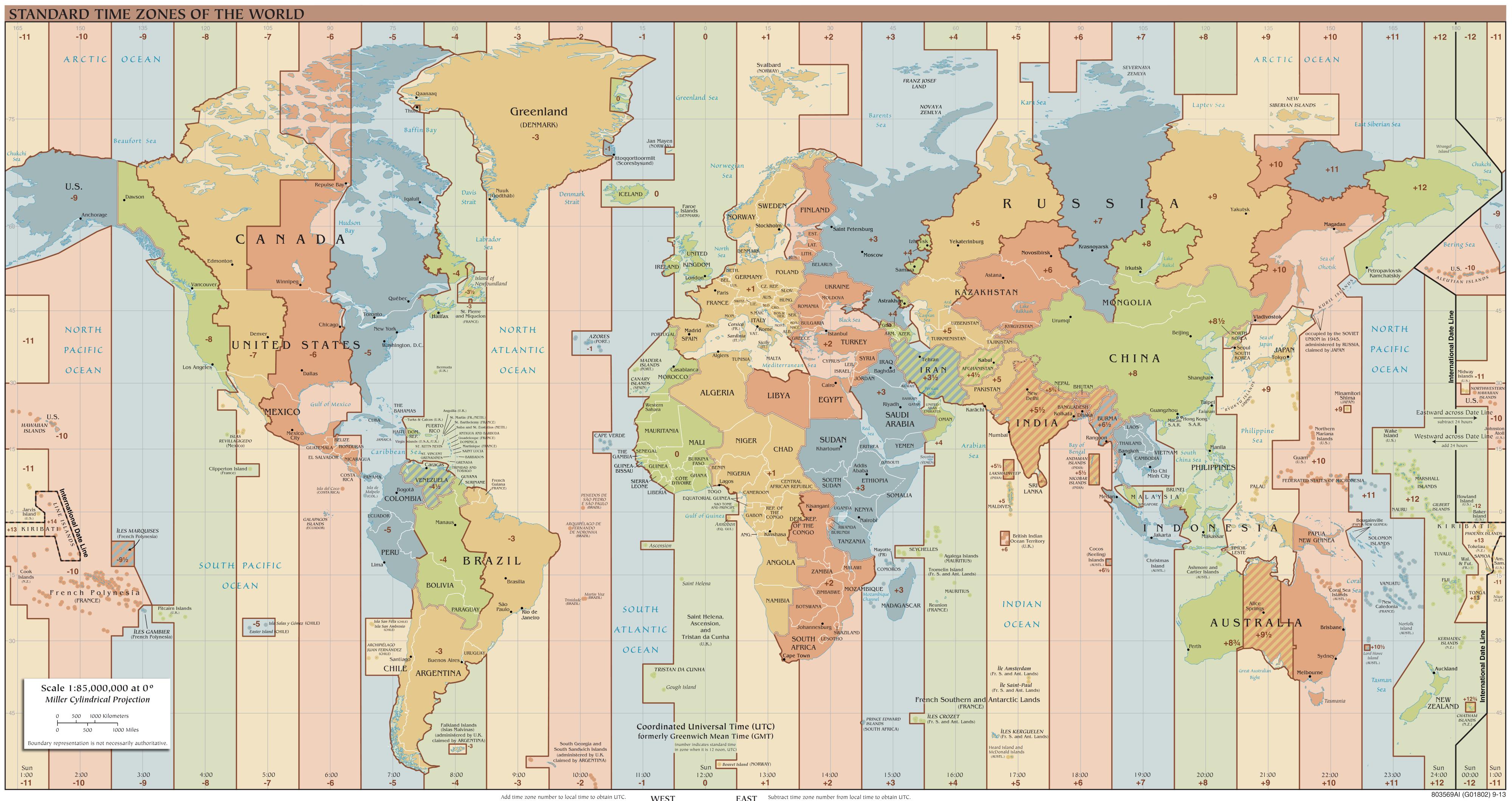 Weltzeituhren selber bauen weltzeituhr auf einer weltkarte - Wanduhr zeitzonen ...