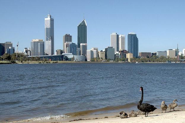 Australien Perth Skyline Swan River