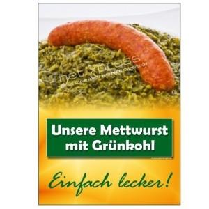Gruenkohl Plakat - Werbung für Gastro, Restaurant, Party