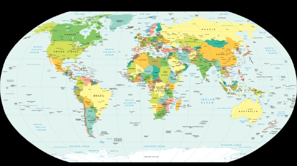 Weltkarte Politische Ansicht Vektoren SVG 2005