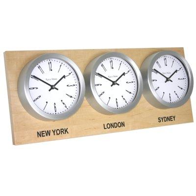 drei Zeitzonen Weltzeituhr Roco Verre Shop