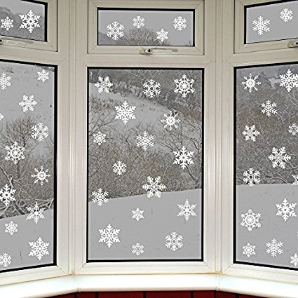 "Fensterdeko Winter - Winterdeko ""Schneeflocken"""